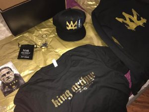 Thanks for the swag arenasentertainment kingarthurmovie is in theaters todayhellip