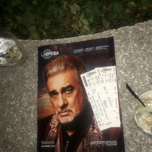 Our Saturday night with laoperas Nabucco starring placidodomingo at thehellip