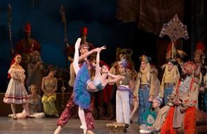 "Isabella Boylston and Roddy Doble in ""Le Corsaire."" (Courtesy of Gene Schiavone)"