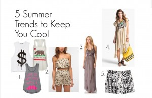 Wearing a maxi dress this summer is one of the five ways to keep you cool.