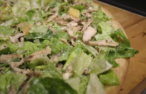 Your Chicken Caesar Salad pizza could look this once made. (www.hiclasspizza.com)