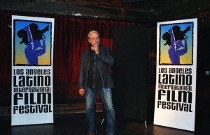 Producer, director, actor and activist Edward James Olmos during the kick-off party for the Los Angeles Latino International Film Festival. (Ramon Aviles/Living Out Loud LA)