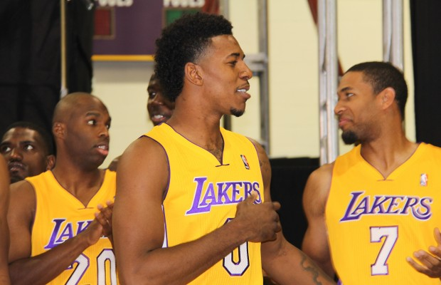 New Laker Nick Young, pictured above, has always been a Kobe Bryant fan. (Elisa Hernandez/Living Out Loud LA)