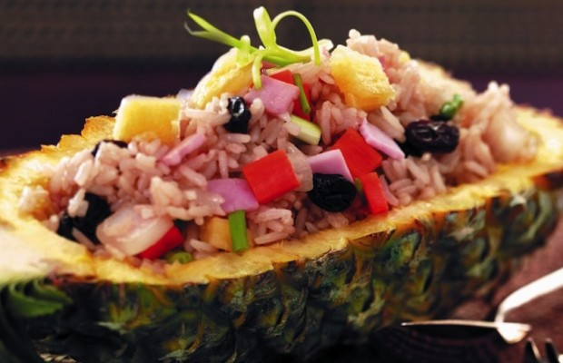 Pineapple fried rice, picture, is expected to be one of the hot items at the first-ever Thai Food Festival in Los Angeles. (www.thaifoodfest.com)