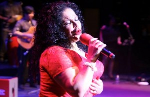Eva Ayllon performing on Saturday, October 19 at UCLA's Royce Hall. (Facebook/EVA AYLLON OFICIAL)