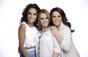 The all-female Mexican singing trio Pandora, pictured, is comprised of sisters Isabel Lascurain and Mayte Lascurain, and their cousin cousin Fernanda Meade.