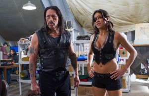 Danny Trejo and Michelle Rodriguez star in Machete Kills, now in theaters. (Rico Torres/Open Road Films)