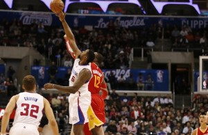 Clippers' DeAndre Jordan had 11 points and 9 rebounds against the Houston Rockets on Monday night. (NBA/Los Angeles Clippers)
