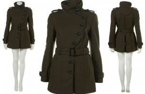 A military style piped coat. (Topshop)
