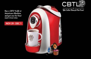 CBTL® single-serve machine.