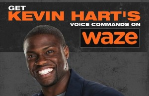 The first celebrity to guide you from your favorite burger joint to the cheapest gas station near you is comedian and actor Kevin Hart. (Facebook/Waze)