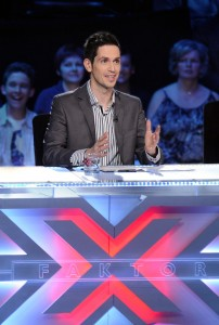 Miklos Malek as a judge on X-Factor Hungary. (Bence Barsony)