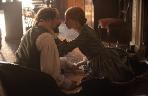 Ralph Fiennes as Charles Dickens and Felicity Jones as Nelly Ternan in The Invisible Woman. (David Appleby/Sony Pictures Classics)