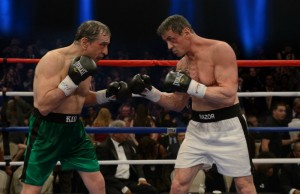 """Robert De Niro as Billy """"The Kid"""" McDonnen and Sylvester Stallone as Henry """"Razor"""" Sharp in Warner Bros. Pictures' comedy Grudge Match. (Ben Rothstein/Warner Bros. Pictures)"""