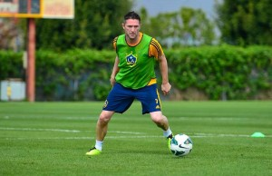 Robbie Keane during practice on Tuesday, January 28 at StubHub! Center. (Facebook/LA Galaxy)