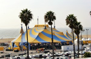 """Cirque du Soleil's """"Totem"""" big top stands 66-feet high, and is 167 feet in diameter. (Marvin Vasquez/Living Out Loud LA)"""