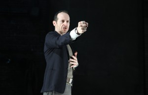 "Denis O'Hare in ""An Iliad."" The one-man show runs through February 2 at The Broad Stage in Santa Monica. (Joan Marcus)"