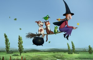 Room on the Broom is narrated by Simon Pegg. (Magic Like Pictures)