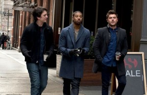 Miles Teller (left) Michael B. Jordan and Zac Efron play three friends in their late 20s in That Awkward Moment, a romantic comedy now playing in theaters. (Focus Features)