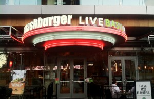 Smashburger and Live Basil Pizza are both located at L.A. Live in downtown Los Angeles. (Sabina Ibarra/Living Out Loud LA)