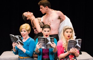 "Cast members from ""50 Shades! The Musical."" (Michael Brosilow/Clifford Roles)"