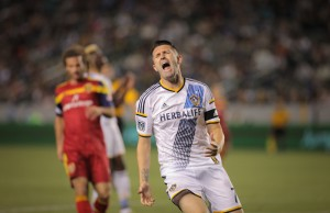 Robbie Keane reacts when he missed his penalty kick against Real Salt Lake on Saturday, March 8 at Stub Hub Center in Carson, Calif. (Rafael Orellana/Living Out Loud LA)