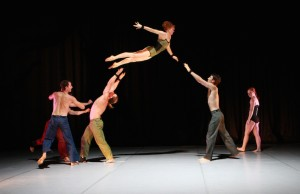 Cast members of Circa, a contemporary circus company of Australia. (Justin Nicholas)