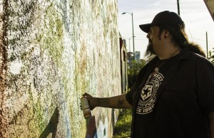 Jaime Reyes, also known as Vyal One, is a Chicano artist from East LA. (Taylor Wong/Living Out Loud LA)