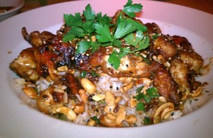 Spicy cashew chicken from Cheesecake Factory.