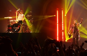 twenty one pilots performing on Friday, May 9 at The Wiltern in Los Angeles. (Anastasia Washington/Living Out Loud LA)