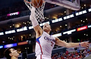 Blake Griffin dunks during Game 3 against the Thunder on Friday, May 9, 2014 at Staples Center. (Facebook/Los Angeles Clippers)