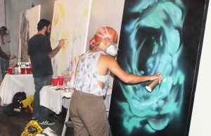 Live mural paintings were just some of the great experiences to be had at Artopia. (Daizy Neri/Living Out Loud LA)