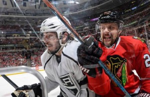 Chicago forced a Game 6 with a 5-4 double-overtime win over the Kings Wednesday night. (L.A. Kings Facebook)