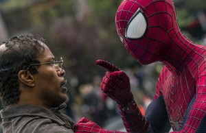Jamie Foxx and Andrew Garfield star in The Amazing Spider-Man 2. (Niko Tavernise/Columbia Pictures)