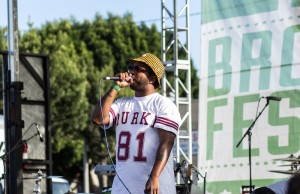Chuck Inglish of The Cool Kids performing on Saturday, May 3 at the Broccoli City Festival at LA Mart in downtown Los Angeles. (Michael Carranza/Living Out Loud LA)