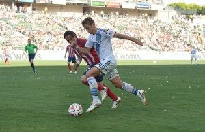 Robbie Rogers played his first full 90-minute game of the season Sunday against Chivas USA. (LA Galaxy)