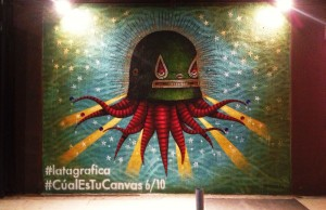Red BullLatagráfica Ed. II.'s Mural No. 6 on display at Hardware Studio (Oliver Nowlin/Living Out Loud LA)