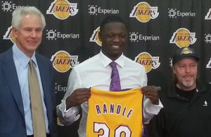 The Los Angeles Lakers introduced Julius Randle to the media Monday morning. (Elisa Hernandez/Living Out Loud LA)