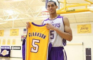 Point guard Jordan Clarkson was introduced as a Laker on Monday. (nba.com)