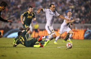 Many feel the Galaxy's Landon Donovan should have been awarded two penalty kicks against the Timbers. (LA Galaxy Twitter)
