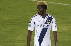 Gyasi Zardes of the Los Angeles Galaxy (Noah Salzman)