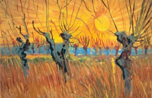 Vincent van Gogh's Pollard Willows at Sunset  now on display at LACMA (Art Resource, NY.)
