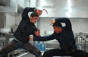 Iko Uwais and Cecep Arif Rahman in one of The Raid 2's intense fight scenes.