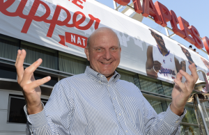 Los Angeles welcomed Clippers owner Steve Ballmer at Monday's fan festival. (nba.com/clippers)