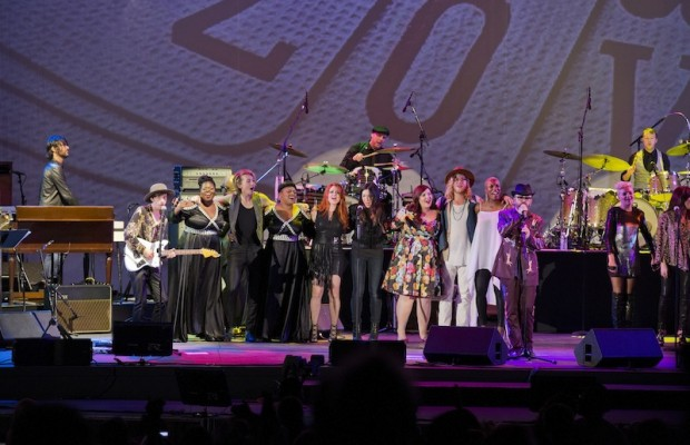 The star-studded finale at the Bowl's celebration of the Beatles' 50th. (Michelle Shiers)
