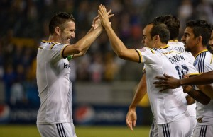 Robbie Keane led the L.A. Galaxy to a 2-0 win over the Vancouver Whitecaps Saturday night. (Facebook)