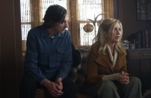 Life of Crime 's Louis (John Hawkes) and Mickey (Jennifer Aniston) (Barry Wetcher)