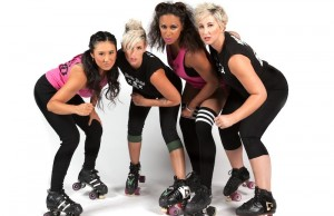 "Num ""Nhung Chux"" Mond, Ane ""Gori Spelling"" Jens, Erikka ""Purrfect"" Valdez and Ashley ""Whip N' Ash) Hobbs of the L.A. Derby Dolls (Rafael Orellana/Living Out Loud LA)"