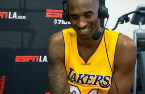 Kobe Bryant at Lakers media day 2014 (Andrew Carrillo/Living Out Loud LA)
