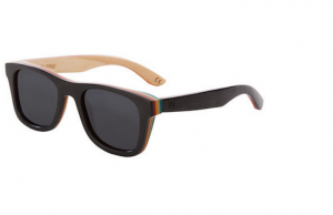 Woodzee's Alpine Skateboard Pride Sunglasses - Smoke.